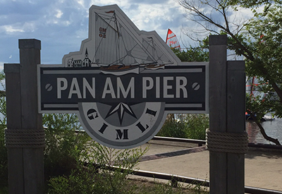 Pan Am Pier Sign
