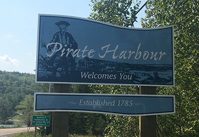 Pirate Harbour Sign