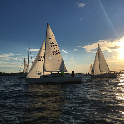 Some Great Upwind Club Sailing