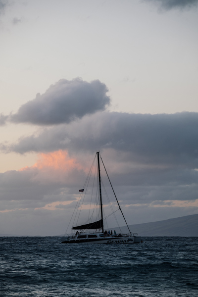 Sailboat Under Cloudy Sky
