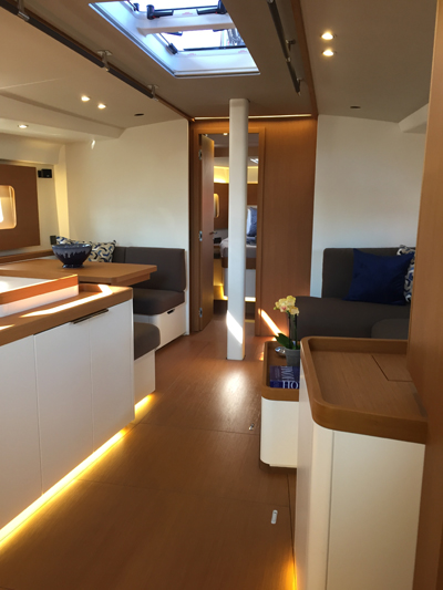 First Yacht 53 Dining Area