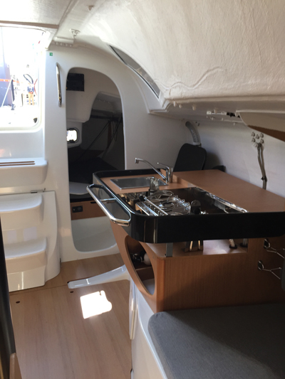 The Sunfast 3300's Galley