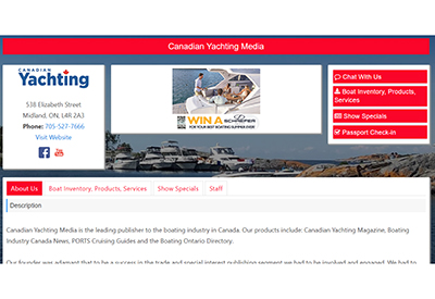 Canadian Yachting TIBSV Booth