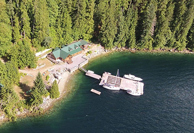 Aerial View of Hombray Lodge