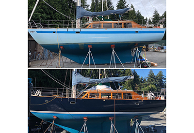 Sailboat Before and After