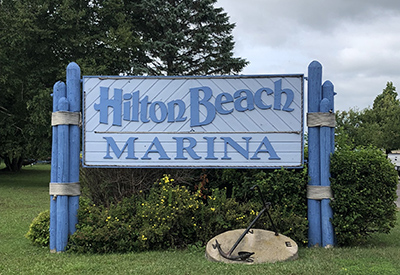 Hilton Beach Marina Sign