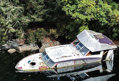 Abandoned Boats in BC