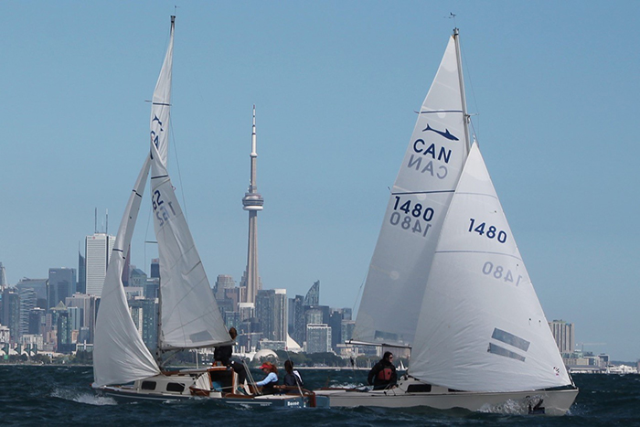 Women's Keelboat on Lake Ontario