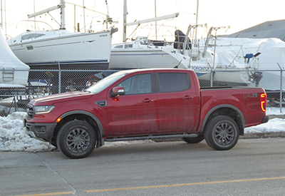 Ford Ranger at the Marina