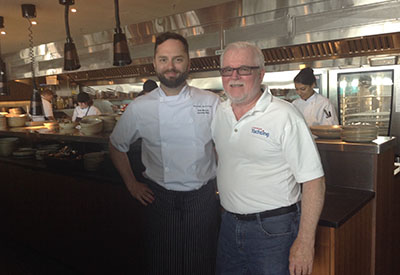 Executive Chef Sam Harris with Bob Nicoll