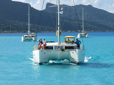 Catamarans On Blue Water