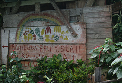 Dominica's fresh fruit stall