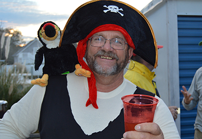 Pirate costumes and dark-n-stormies