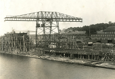 Midland Harbour Shipyard 1917