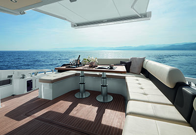 Azimut 55 - electronic features