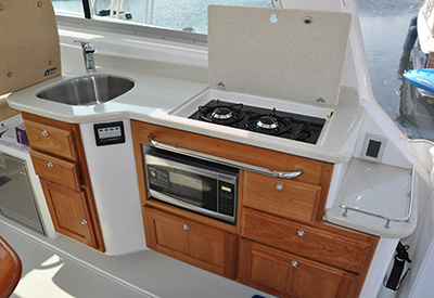 Back Cove 34 Galley