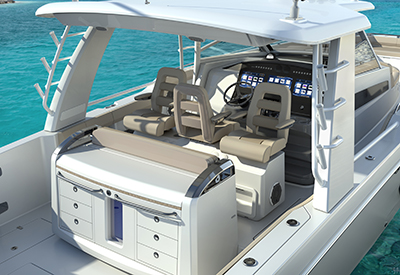 Boston Whaler Outrage 420 Helm