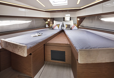 Jeanneau Leader 46 - Guest cabin forward