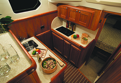 Mainship 34 Trawler - Galley