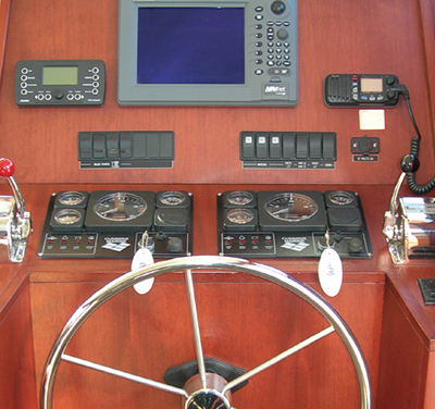 Westcoast 46 - Lower helm dashboard