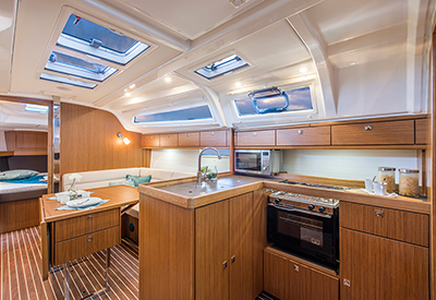 Bavaria 37 Kitchen and Layout