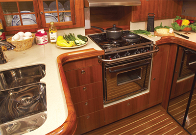 Hunter 45CC - Galley
