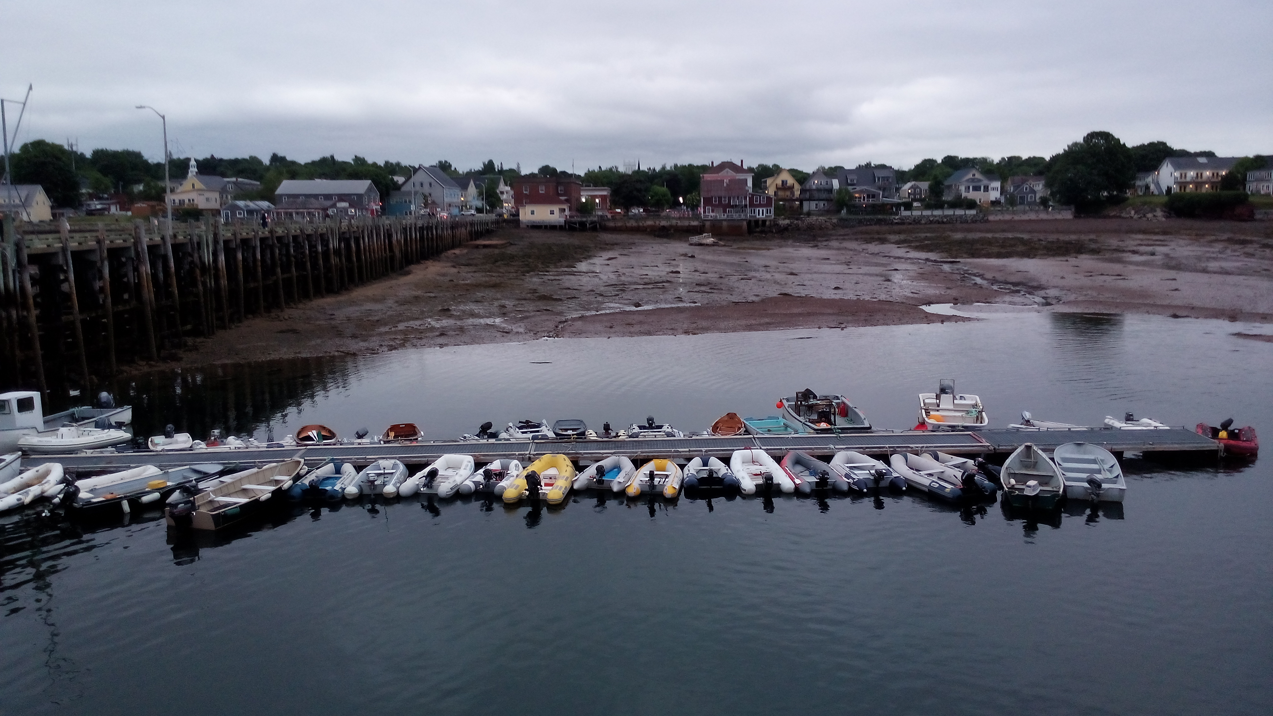 Busy Dinghy Dock St. Andrews