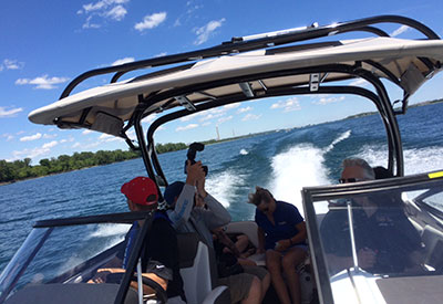 Discover Boating Media Day on the Water
