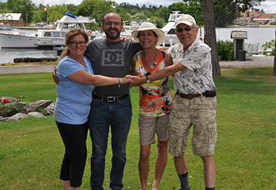 Galley Guys at Rawley Resort - Anna and Mario Ribeiro with Edel and Paul Schmidt.