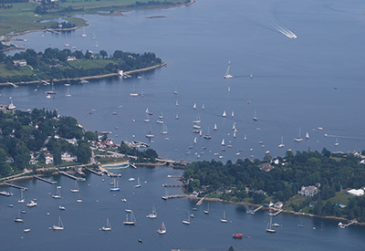 Chester Yacht Club aerial view