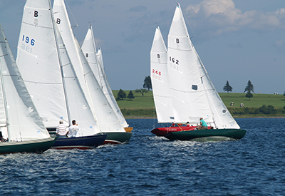 Chester Yacht Club bluenotes racing upwind