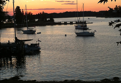 Chester Yacht Club - Chester Back Harbour sunset
