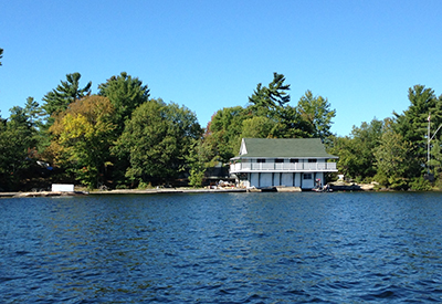 Stony Lake Yacht Club - Pagoda from the water.