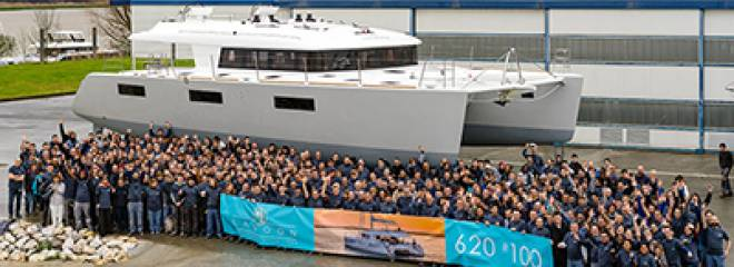 Flagship Lagoon 62 Marks 100th Launch